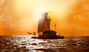 picture of the balsa fleet Kon-Tiki