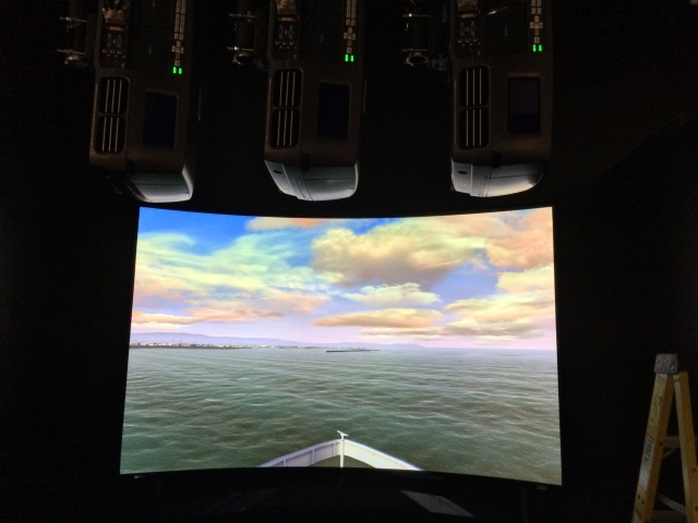 3 channel WQXGA LED projection