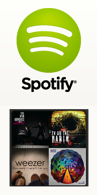 spotify logo & road runner play list